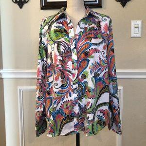 Lauren Ralph Lauren Blouse - no iron XL. Gorgeous!